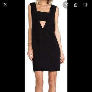 T Alexander Wang black cutout sheath dress Small